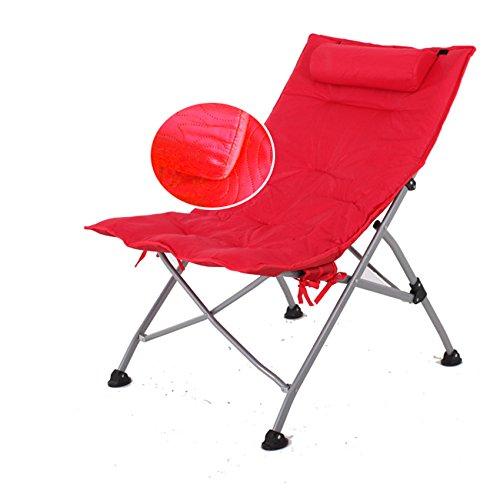 ch-AIR Home Im Freien Einzelnes Mittagessen Break Chairs Lounge Chair N Klappstühle Lounge Chair Sessel Sun Liegen (Farbe   rotB) rota