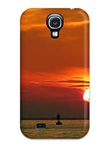 Top Quality Rugged Sunset Sea Case Cover For Galaxy S4