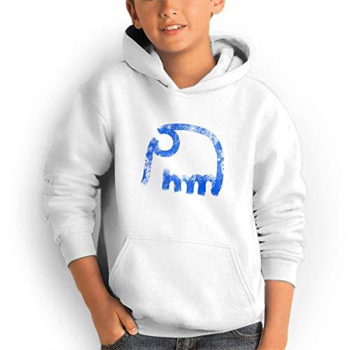 Shenhuakal Youth Hoodies Elephant Ggirl%Boy Sweatshirts Pullover with Pocket White 29 by Shenhuakal