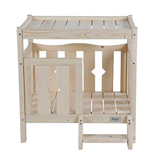 Cheap Petsfit 24″Lx18″Wx24″H Pet Wooden Bed,Dog Bed,Cat Condo(Indoor Use) W/O Mat