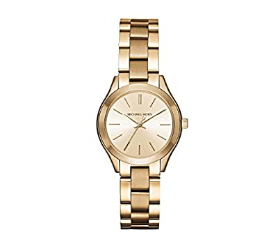 Michael Kors Mini Slim Runway Goldtone Three-Hand Watch from Michael Kors