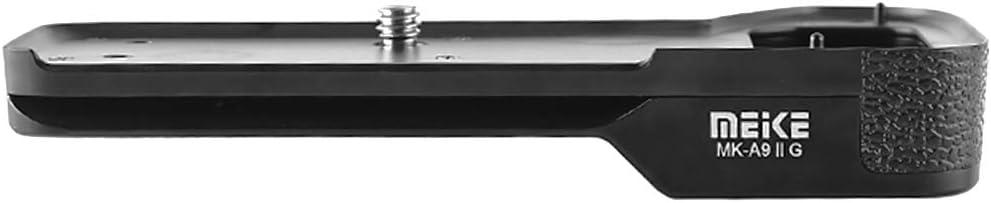 Meike Empu/ñadura para c/ámara compatible con Sony A7R IV // A7 IV // A9 II MK-A9 II G Acceso r/ápido a la bater/ía Compatible con Arca Swiss con rosca de tr/ípode