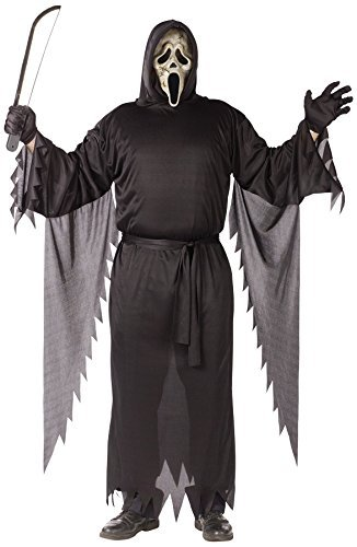 Zombie Ghost Face Adult Costume (Plus (Mens Plus Size Ghost Face Costumes)