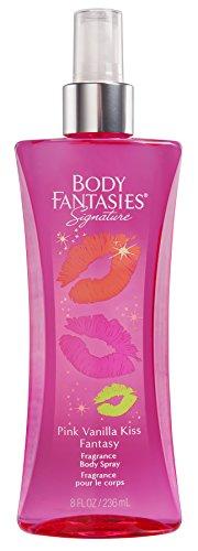 Body Fantasies Signature Fragrance Body Spray, Pink Vanilla Kiss Fantasy, 8 Fluid Ounce