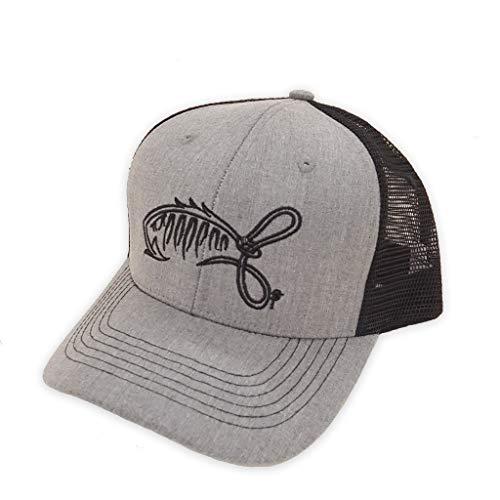 Bent Hook Apparel Co. Original Mesh Back Ball Cap (Grey/Black)