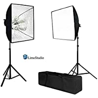 LimoStudio 1600 Watt Photo Studio Lighting Softbox Video Light Kit and Carry Case with 16x24-Inches Softboxes and 8pcs 45W 6500k Bulbs, AGG847