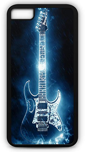 iPhone 8 Case Electric Guitar Rock N Roll Heavy Metal Instruments Music Customizable by TYD Designs in Black Rubber]()