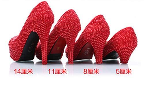 La Zapatos Las 5cm Ab Tamaño Nocturno De Grandes Boda Super High Diamante Club Shiney Grande Azul Mujeres Heel Del wAfgxnqnY