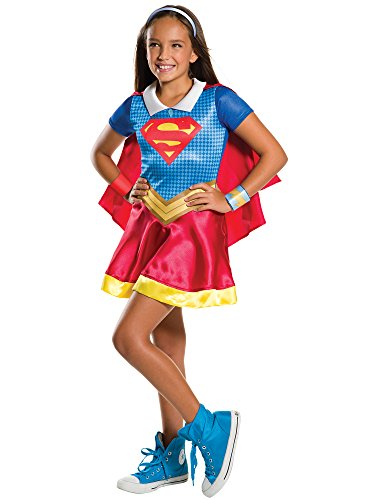 - 41RRht4HDlL - Rubie's Costume Kids DC Superhero Girls Supergirl Costume