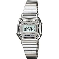 Women's LA670WA-7 Silver Tone Digital Retro Watch