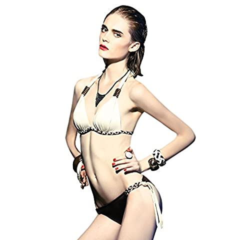BALNEAIRE Women's Push Up Bikini Set Bathing Suits Sexy Bottom Triangle Bikini Swimsuit 2 Piece - Brown 2 Piece Bikini Swimsuit