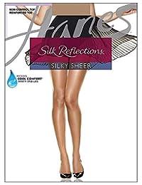 Women`s Set of 3 Silk Reflections Non-Control Top RT Pantyhose