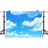 10x7ft Blue Sky White Clouds Backdrop Natural Scenery Photography Background Photo Studio Photography YouTube Twitter Backdrop Props PHMOJEN PH002