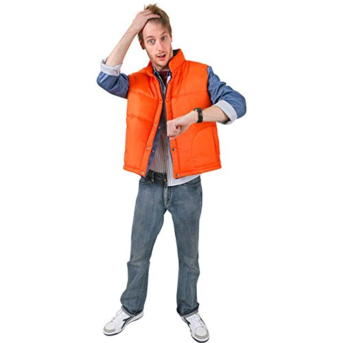 Adult Marty McFly Halloween Costume (Halloween Costumes Denim Vest)