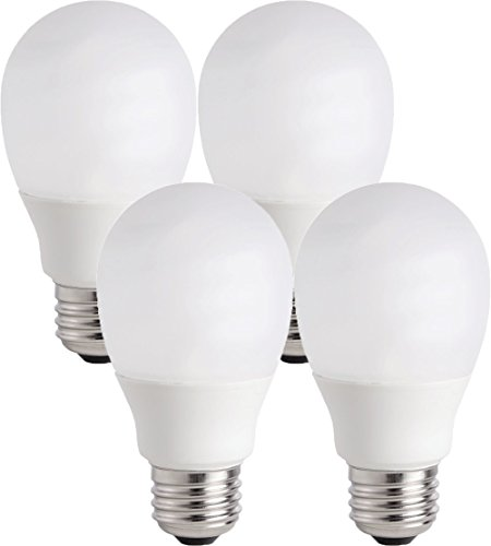 Philips 14W (60W Equivalent) CFL Shatter Resistant Light Bulb with 9.1 Year Life, Medium Base (4 Bulbs) ()