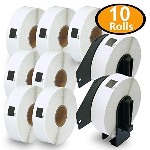 BETCKEY - 10 Rolls Compatible Brother DK-1203 File Folder Labels 2/3