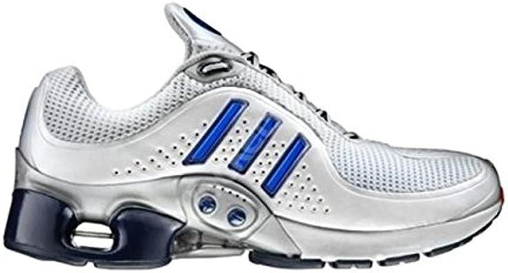 Adidas 1,1 Inteligente One Zapatillas de Running rareza! Blanco/Azul/Plata