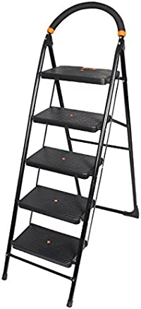 PAffy Folding Ladder with Wide Steps - Milano 5 Steps with 7 Years Warranty