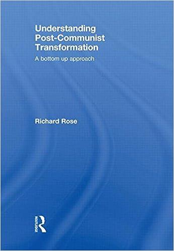 Book Understanding Post-Communist Transformation: A Bottom Up Approach