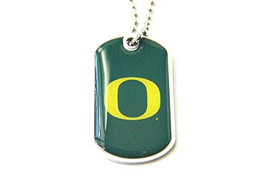 - aminco Oregon Ducks Dog Tag Domed Necklace Charm Chain Ncaa