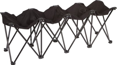 - Trademark Innovations Portable Folding Sports Seater Bench - Sideline Collapsible Bench - 4 or 6 Seats