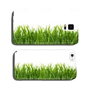 Green grass isolated on white background. cell phone cover case Samsung S6