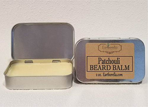 Men's PATCHOULI scented all natural BEARD BALM by Eartherella Soap & Candle Co.