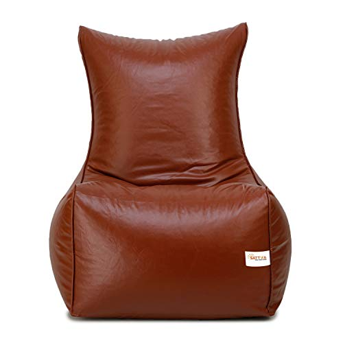Sattva Chair Style Bean Bag XXXL Bean Bag Cover  Without Beans    Tan