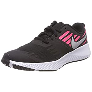 Best Epic Trends 41RRmHooB3L._SS300_ Nike Girl's, Star Runner Sneaker - Big Kid Black Silver Pink