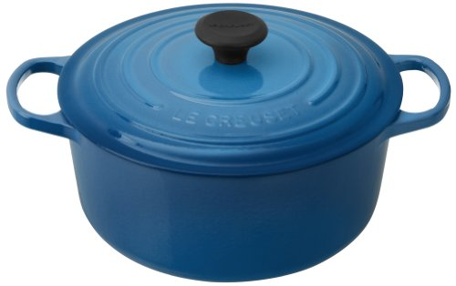 Le Creuset Signature Enameled Cast-Iron 5-1/2-Quart Round French (Dutch) Oven, Marseille