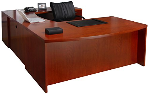 (Mayline MEU3MC Mira Desk Medium Cherry Veneer)