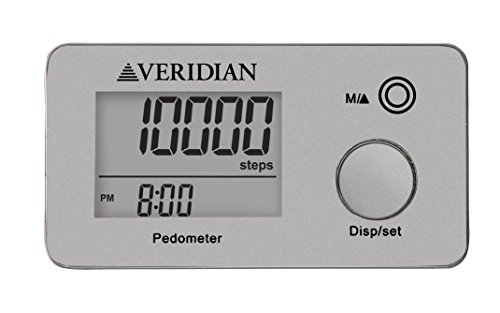 Veridian Healthcare 19-005SL Multi-Function Pocket Pedometer