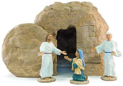 Easter Creche Resurrection Scene Display – 5 Piece Set