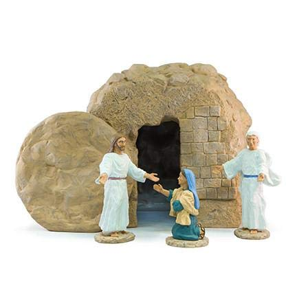 Easter Creche Resurrection Scene/Display - 5 Piece Set