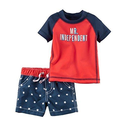 Carter's Baby Boys' Mr. Independent Rashguard Swim Set 3 Months ()