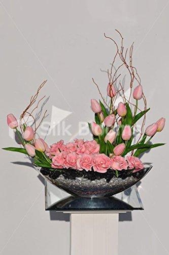 Gorgeous Artificial Rosa Tulipanes Y Rosas Con Ramas De
