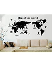 World Map Fresh Style Wall Sticker Livingroom Background Decor Mural Decal Wall Paper , 2724523441086