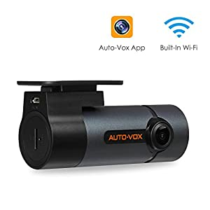 Upgraded AUTO-VOX WiFi Dash Cam D6 Pro FHD 1080P Dashboard Camera Recorder Car Dash Camera with Super Night Vision, G-Sensor, WDR, Loop Recording, 300°Rotate Angle
