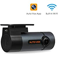 Upgraded AUTO-VOX WiFi Dash Cam D6 Pro FHD 1080P Dashboard Camera Recorder Car Dash Camera with Super Night Vision, G-Sensor, WDR, Loop Recording, 300°Rotate Angle