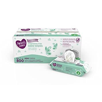 Parents Choice Fragrance Free Baby Wipes, 800 count(2 Packs)