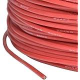 cable de silicona AWG 20 0.5 mm2 altamente flexible rojo super suave partCore 13,87 A 1000 mm ø 1.8 mm hasta 200 ° C# 110030