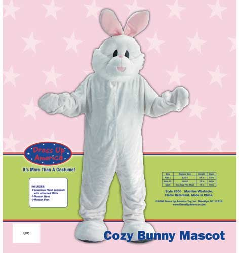 Dress Up America Adults Easter Bunny Mascot Costume by Dress Up America (Image #1)