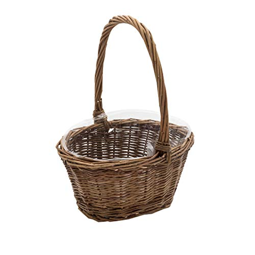Easter Flowers Basket - Royal Imports Oval Shaped -Small- Willow Handwoven Easter Basket 9