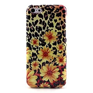 ZXSPACE Sun Flower Pattern TPU Soft Case for iPhone 5C