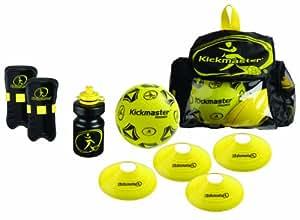 Kickmaster - Kit de entrenamiento con mochila, color negro/amarillo