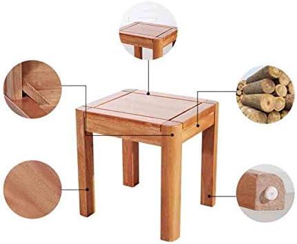 JINYUN Tabouret Chaise Tabouret en bois Tabouret de maquillage carré Home Banc en bois de noyer rouge, H 40Cmx L 40Cmx W 35Cm