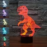 Nighttime Illumination - Dinosaur Usb Battery Light Colorful Decor Gift - Visible Featherlike Leavened Ignitor Soft Luminosity Airy Brightness Wakeful Phosphorescent Lightweight - 1PCs
