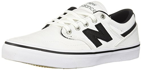 (New Balance Men's 331v1 Skate Shoe, White/Black, 4 D)