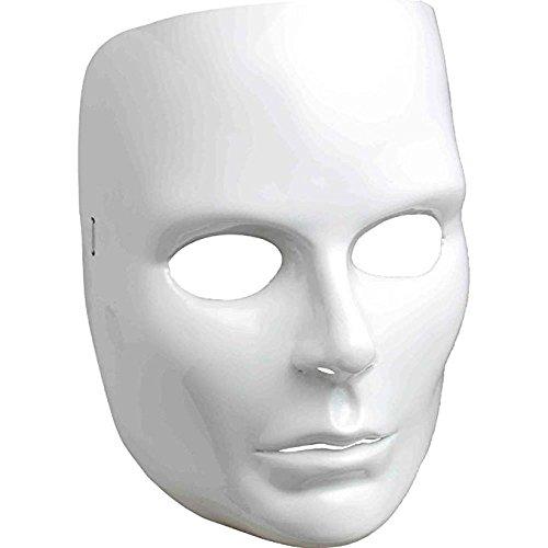 Women's White Full Face Mask (Mime Mask)