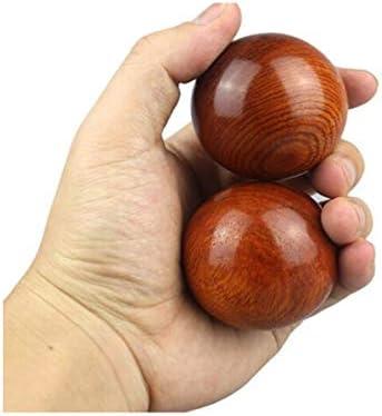フィットネスボール、ローズウッドフィットネスボール、健康ソリッドウッドマッサージボールハンドボール、中年や高齢者ホールディングザ・ボールは5cm (サイズ : 5.0cm)